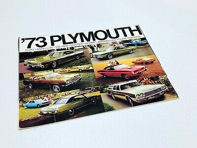 1973 Plymouth Fury Satellite Valiant Duster Scamp Barracuda Cuda Brochure