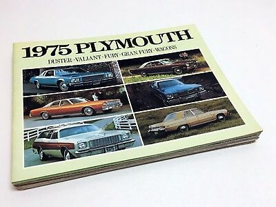 1975 Plymouth Duster Valiant Fury Gran Fury Wagons Brochure