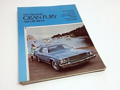 1975 Plymouth Gran Fury Specifications Brochure