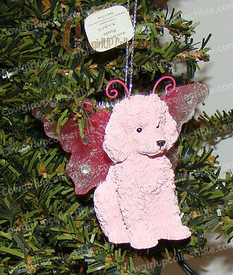 Pink Poodle Bejeweled Ornament (Keith Kimberlin Wings by Westland, 21610)