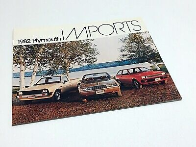 1982 Plymouth Colt Sapporo Dodge D50 Pickup Imports Brochure