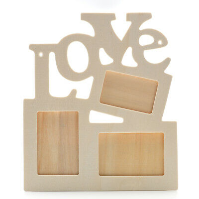 WHITE WOODEN HOLLOW Frames with Retro LOVE Multiple Photo Frames for ...