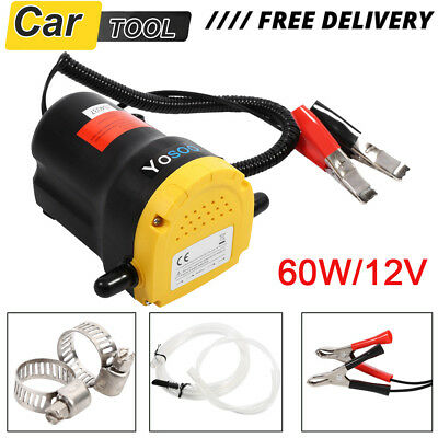 12V Transfer Pump Extractor Oil Fluid Diesel Electric 60w Siphon Car Motorbike