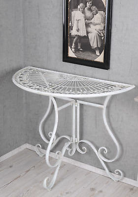 Sideboard Table Shabby Chic Console Table White Wall Table Metal Table Console