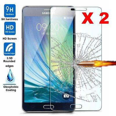 2Pcs Premium Tempered Glass Screen Protector Protective Film Cover For Samsung