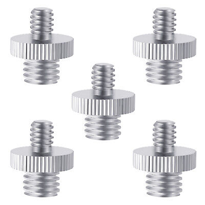 Neewer 5 Pieces 1/4 inch Male to 3/8 inch Male Metal Threaded Screw Adapter