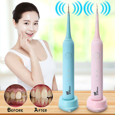 Portable Dental Ultrasonic Dental Scaler Handpiece Cleaning Tooth Whitening USA