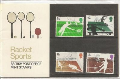 GB 1977 Racket Sports Presentation Pack VGC. Stamps. Free postage!