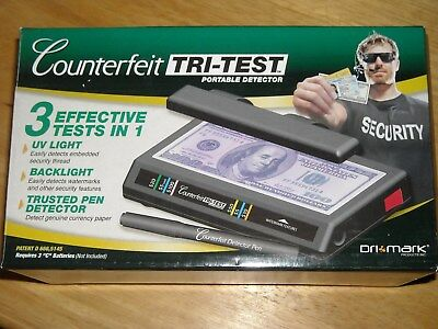DRI MARK Counterfeit TRI TEST currency ID and document tester new