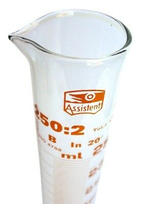 """Hecht Assistent"" Messzylinder 250 ml ❀ Duran Laborglas"