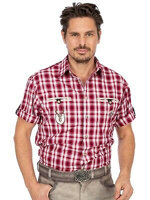 Orbis Traditional Shirt Check Mix short Sleeve Eddi Red