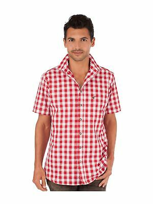 Orbis Traditional Shirt Check short Sleeve Sonnenblick Red