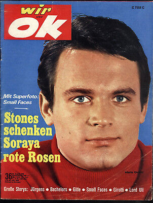 wir und ok Nr.36 vom 29.8.1966 Johnny Hallyday, Small Faces, Gitte, Pierre Brice