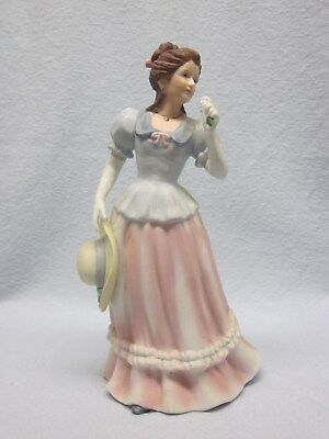 Homco Victorian Lady Figurine 1452  Lady Camille Taiwan Vintage Porcelain Lady