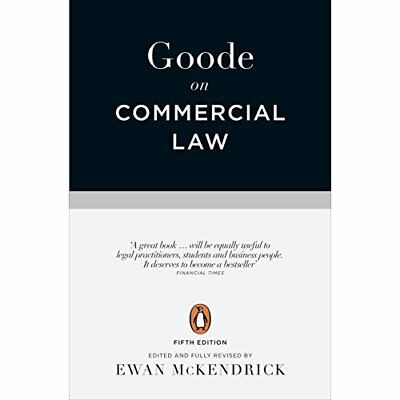 Goode on Commercial Law - Paperback NEW Goode, Roy 03/01/2017