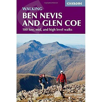 Ben Nevis and Glen Coe: 100 low, mid, and high level wa - Paperback NEW Turnbull
