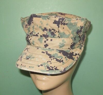 US Military Issue Navy 8 Point Woodland Marpat Camo Garrison Cover Hat Cap Sz S