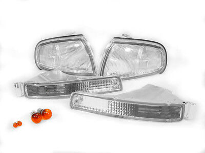 COMBO DEPO Clear Front Corner+Bumper Signal Light + Bulbs for 95-96 Toyota Camry