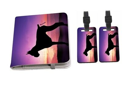 Border Terrier Dog At Sunset Passport Holder with Luggage Tags