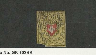 Switzerland, Postage Stamp, #8 Used Faults, 1850