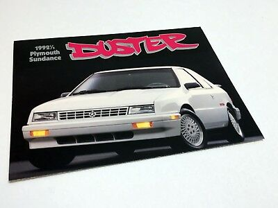 1992 1/2 Plymouth Duster Preview Brochure