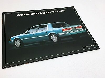 1993 Plymouth Acclaim Information Sheet Brochure