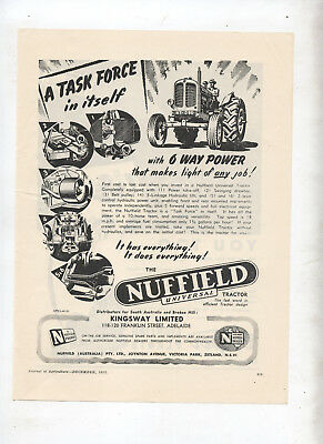 Nuffield Tractor Task Force  Advertisement removed from 1952 Australian Journal