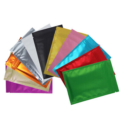 New Flat Clear/Silver/Colored Mylar Zip Lock Bags in Variety Colors and Sizes