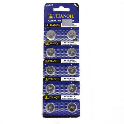 10x AG13 LR44 SR44 Alkaline Coin Button Cell Battery For Camera Remote Watch Toy
