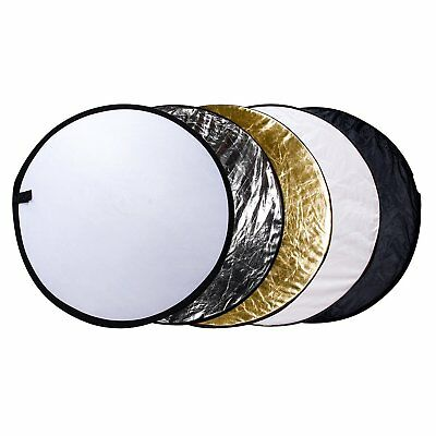 "Etekcity 24"" 5-in-1 Collapsible Multi-Disc Photography Light Photo Reflector"