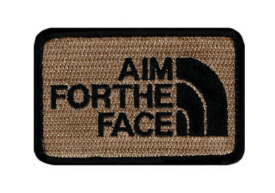 AIM FACE Embroidered Morale Hook Fastener patch (3.0 x 2.0 MTA2)