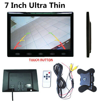"Ultra Thin 7"" 16mm HD TFT LCD Color Audio Video Car Rear View Monitor w/Speaker"