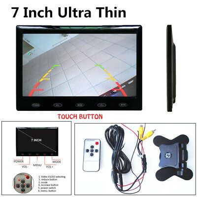 "7"" Ultra Thin 16mm 16:9 HD 800*480 TFT LCD Color Car Rear View Monitor DC12V/24V"
