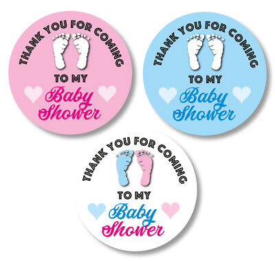 48x Thank You For Coming Baby Shower Stickers Gift Party Bag Seals