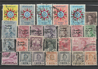 Iraq Iraq Middle East older Postage Stamps mix old Stamps mix Lot Am 5077