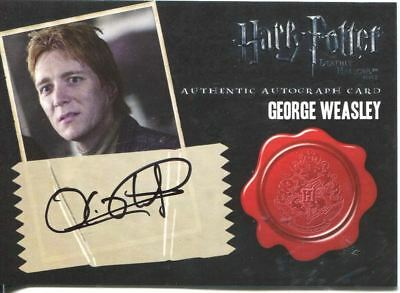Harry Potter Deathly Hallows Pt. 2  Autograph O. Phelps as G. Weasley [10 case]