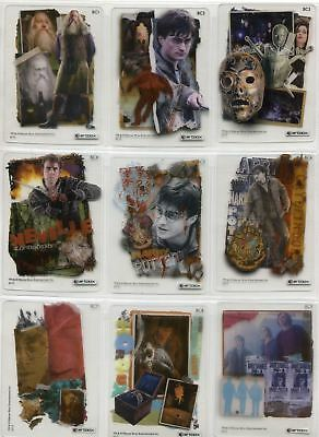 Harry Potter Deathly Hallows Part 2 Complete Acetate Base Chase Card Set BC1-9