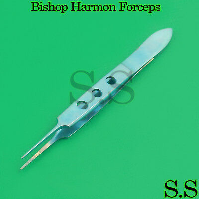 "Bishop Harmon Forceps 3.5"" Serrated Teeth Titanium Surgical Instruments"