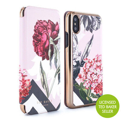 2b2cc3909a2a OFFICIAL Ted Baker AMELIE Mirror Folio Fitted Case for iPhone X - PALACE  GARDENS