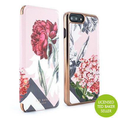OFFICIAL Ted Baker EMMARE  Mirror Folio Case for iPhone 8 Plus - PALACE GARDENS