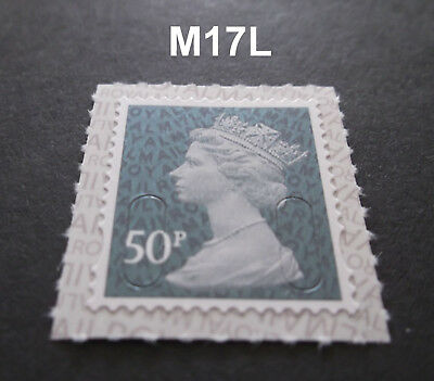 NEW 50p M17L Machin SINGLE STAMP from Counter Sheet