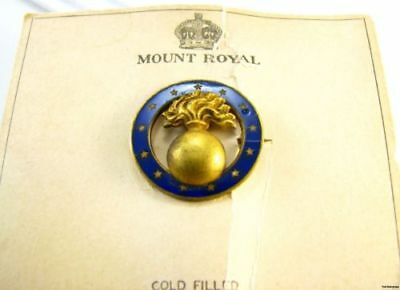 Mount Royal Regiment Badge - New Old Stock Canadian US Military Mystery Pin