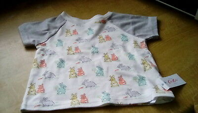 New with tags cath kidston baby t-shirt bunnies age 6-12 months