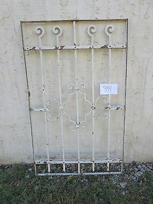 Antique Victorian Iron Gate Window Garden Fence Architectural Salvage #844