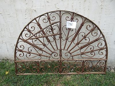 Antique Victorian Iron Gate Window Garden Fence Architectural Salvage #736