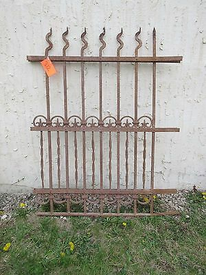 Antique Victorian Iron Gate Window Garden Fence Architectural Salvage Door #312