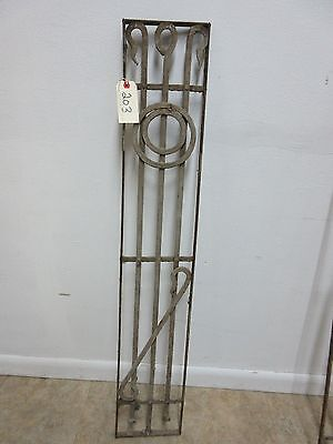 Antique Victorian Iron Gate Window Garden Fence Architectural Salvage Door #203