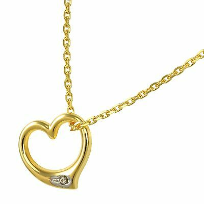 Jewelry Set 333 Gold Anchor Chain + Heart Pendant Swinging New (10440 / 42+6752)