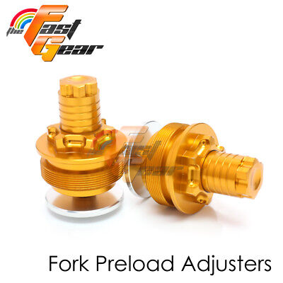 Fork Preload Initial Adjusters Gold For Yamaha YZF R3 2015 2016 2017 2018