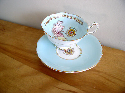 Vtg Paragon Patriotic Teacup Saucer There Will Always Be An England Bone China